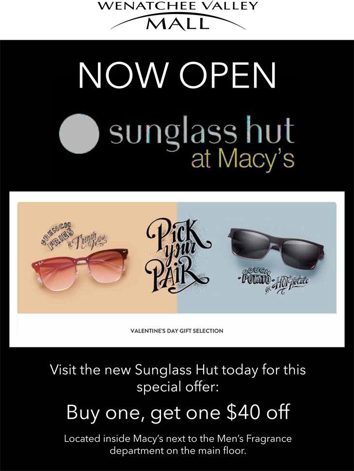 381751573a6a6 Sunglass Hut Macy s Mall E-blast - Kendra Flores Design - Freelance ...